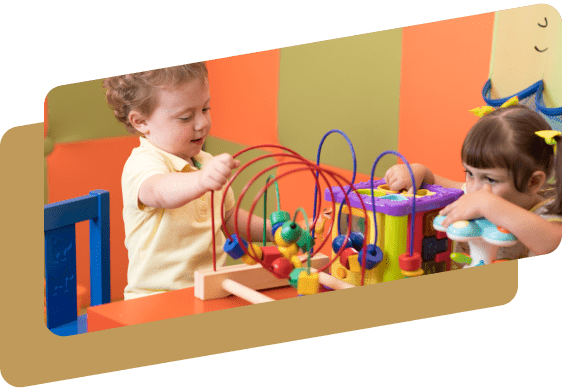 kids playing with toys in a daycare